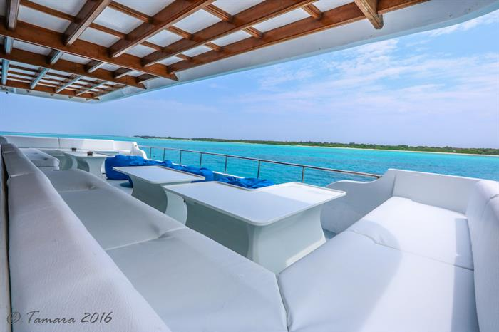 Shaded lounge area - Amba Maldives
