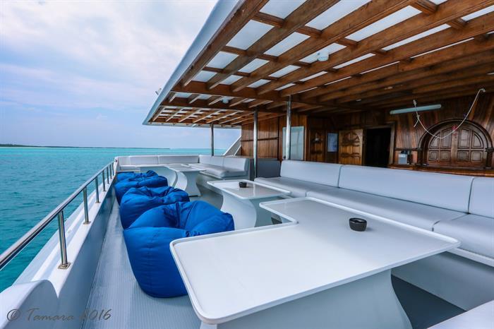Shaded Lounge Area - Amba Maldives