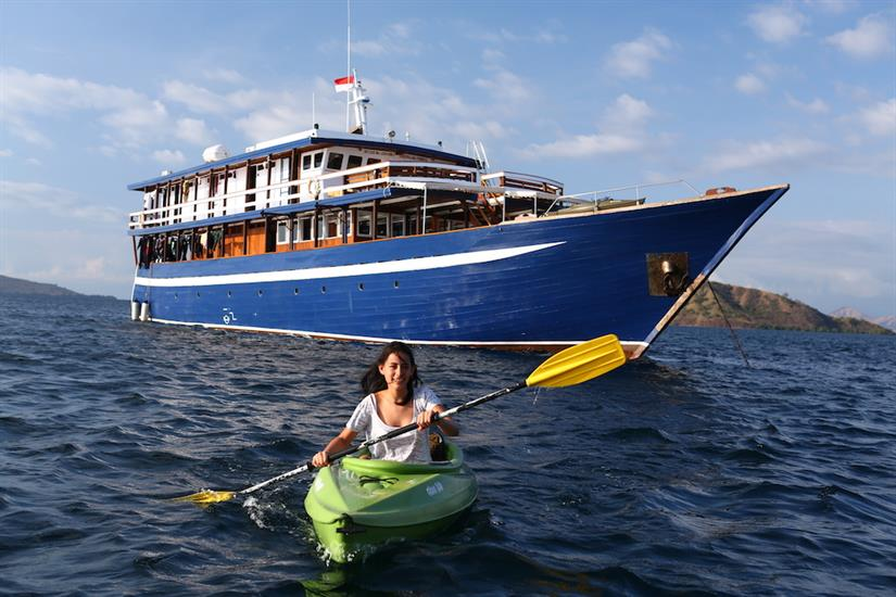 Kayaking in Indonesia with Ambai Liveaboard