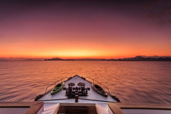 Stunning Indonesia sunsets aboard Ambai