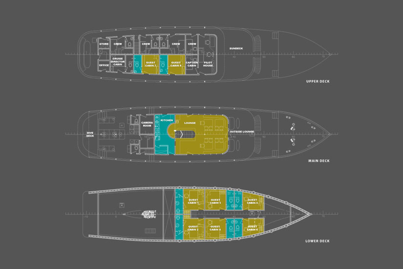 Ambai Deck Plan floorplan