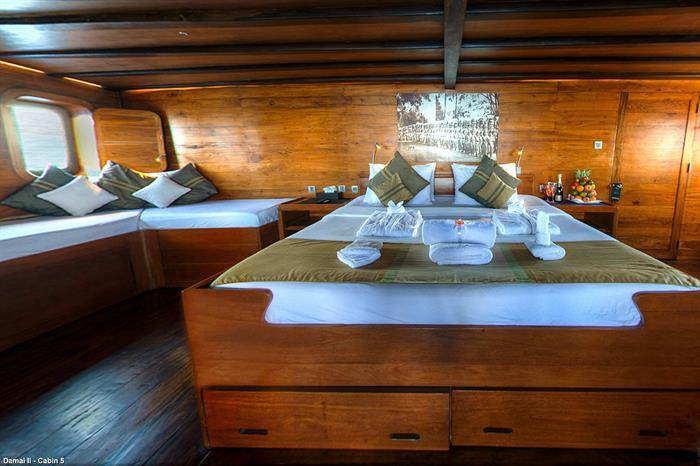 King Bed in Master Cabin 5 - Damai II