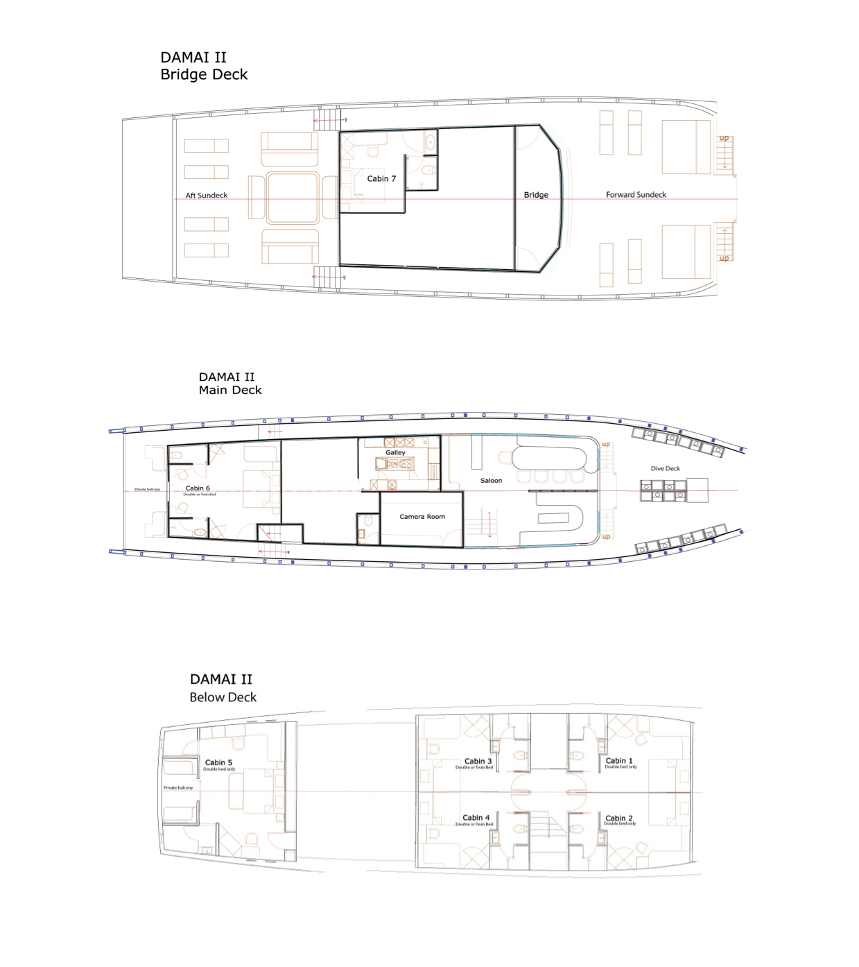 Damai II Deck Plan Grundriss