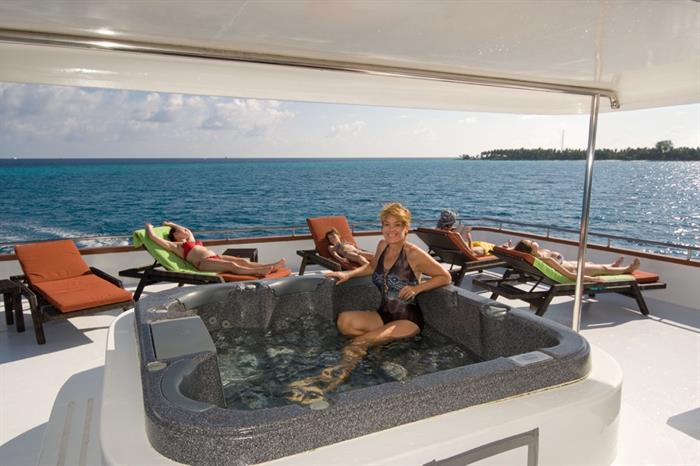 Hot Tub aboard the MV Carpe Vita
