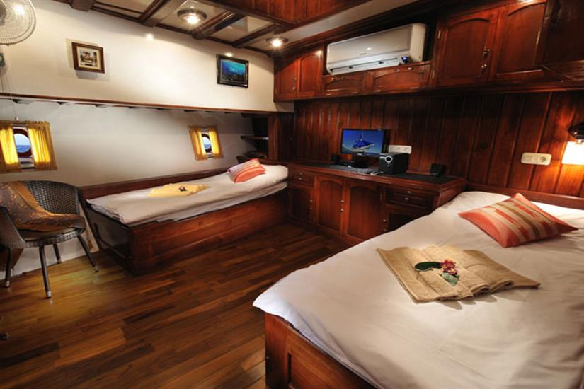 Spacious Cabins aboard the Philippine Siren