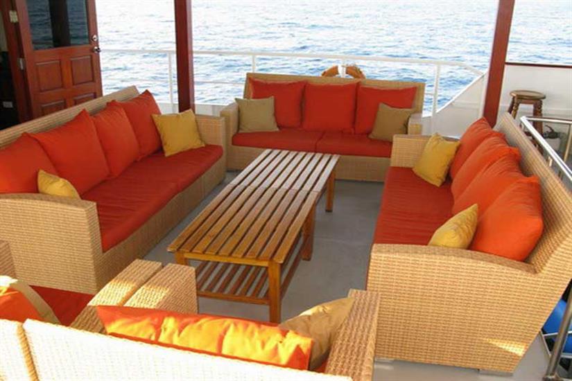 Outdoor Lounge Area - Mermaid I Liveaboard