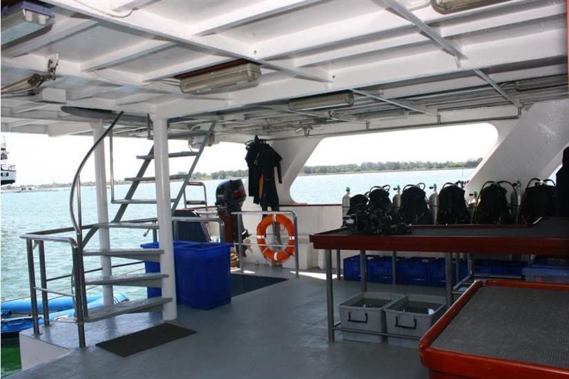 Spacious Dive Deck - Mermaid I Liveaboard