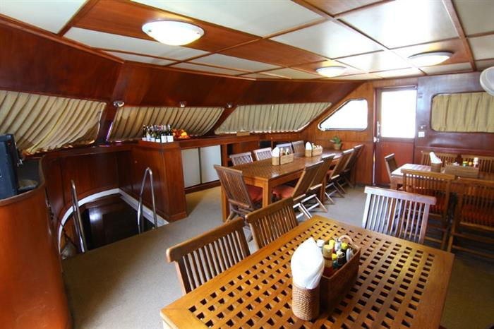 Indoor Dining - Mermaid II Liveaboard
