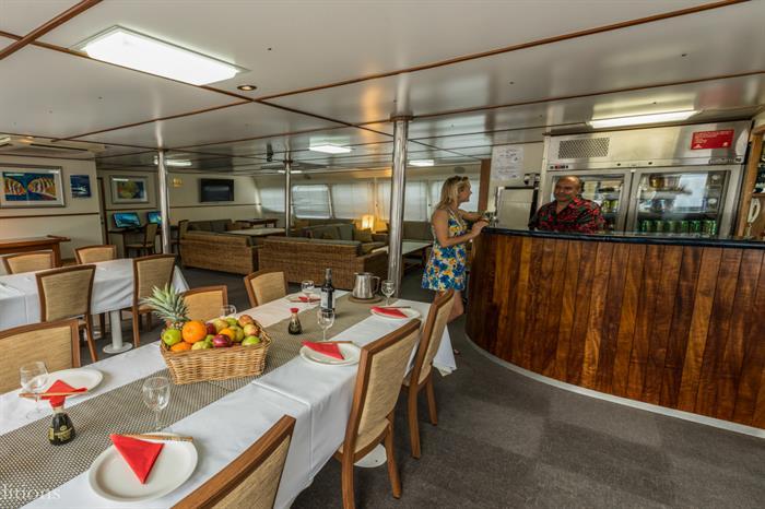 Dining & Bar - Spoilsport Liveaboard Australia