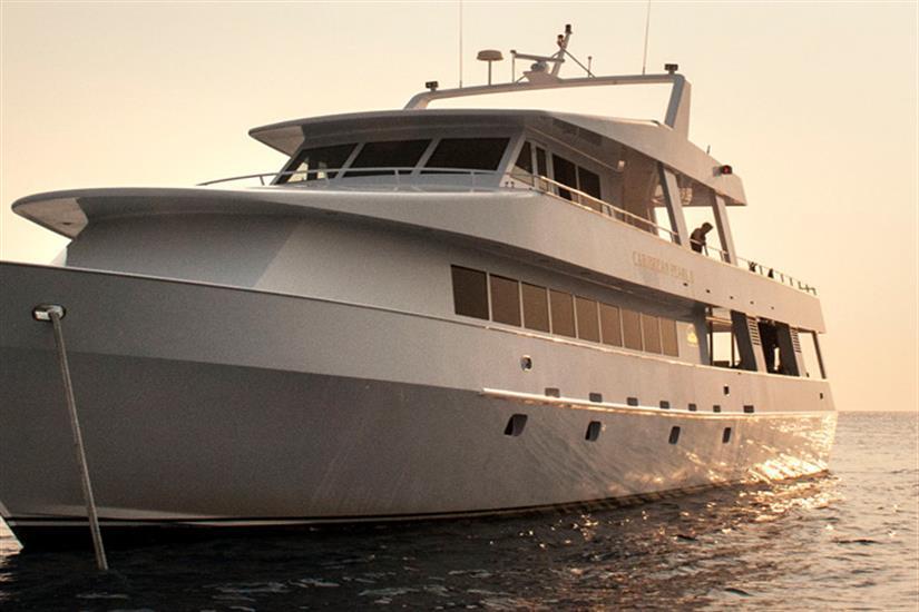 Caribbean Pearl II at sunset