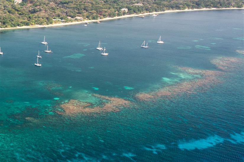 Crystal clear waters of the Bay Islands Honduras