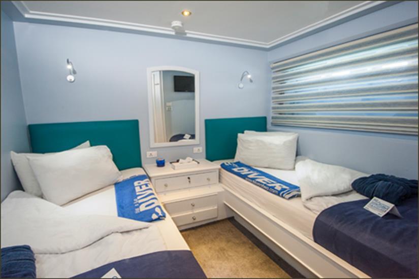 Twin Cabin - Blue Fin Liveaboard (Lower Deck)
