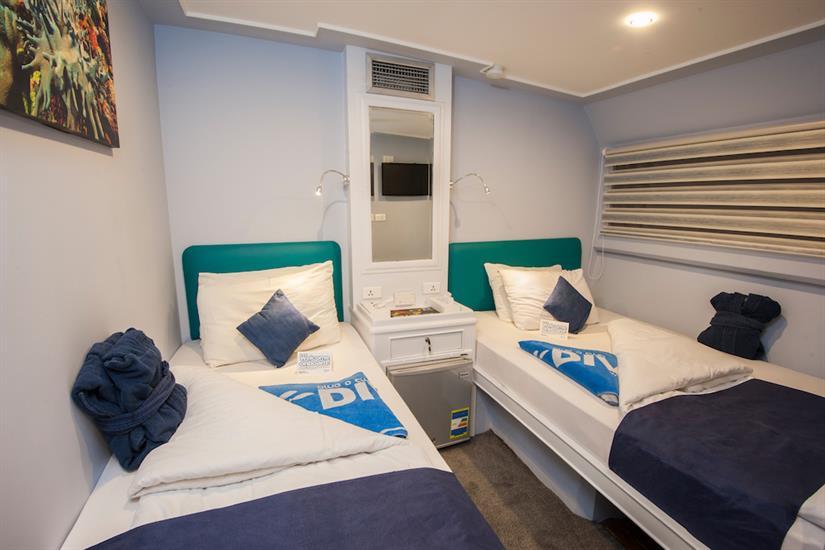 Twin Cabin - blue Horizon