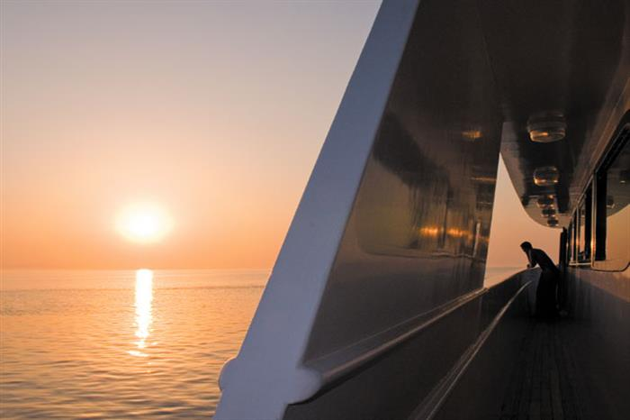 Enjoy amazing sunset views onboard Blue Melody