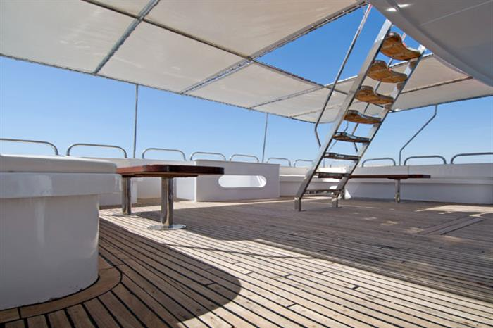 Outdoor Deck - MV Blue Voyager