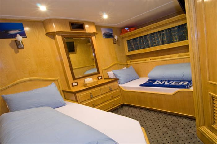Twin Cabin - MV Blue Voyager Maldives