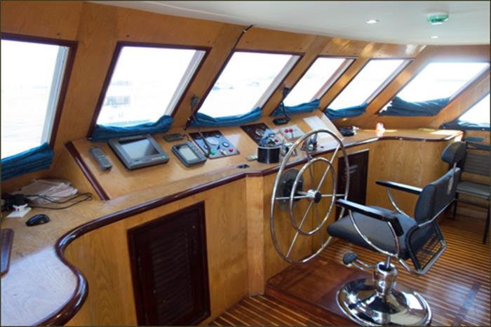 Captains Helm - MV Blue Voyager