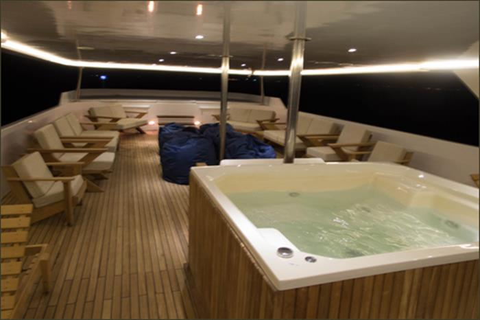 Hot Tub aboard the Blue Voyager