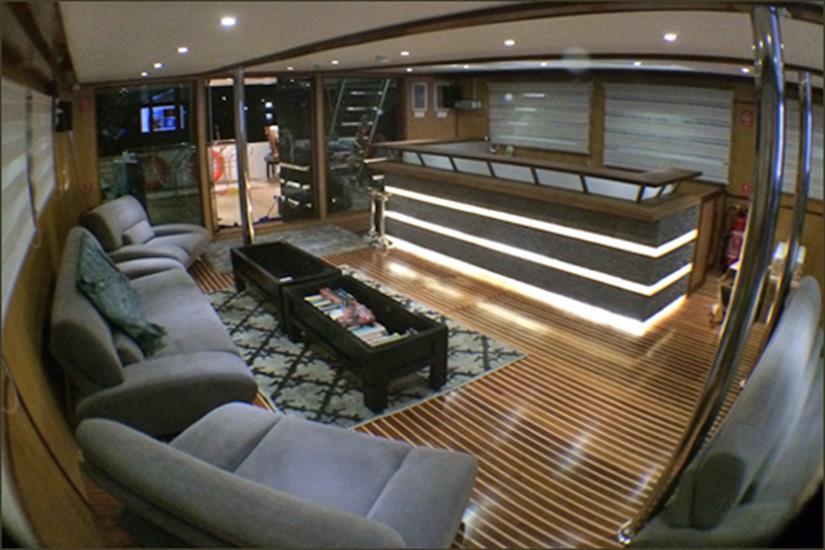 Indoor Lounge/Bar - Blue Voyager Maldives