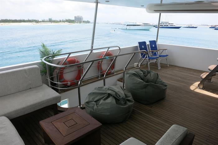 Upper Level Stern Deck - blue Voyager Maldives