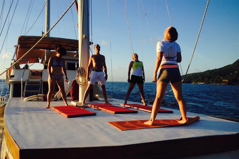 Yoga onboard Galatea Liveaboard