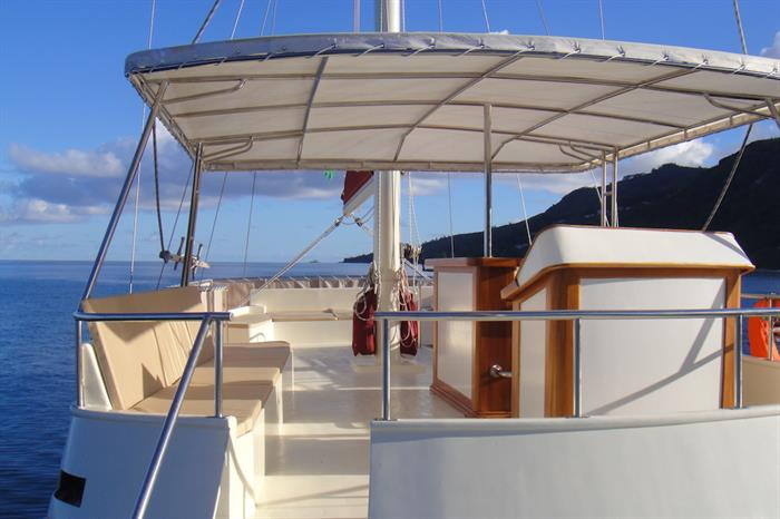 Upper deck area - Galatea Liveaboard