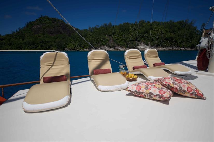 Sun deck area onboard - Galatea Liveaboard