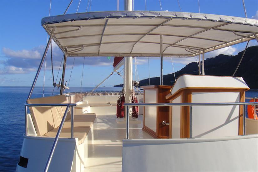 Upper deck area - Galatea Liveaboard