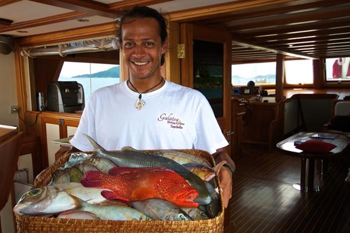 Fresh fish onboard - Galatea Liveaboard