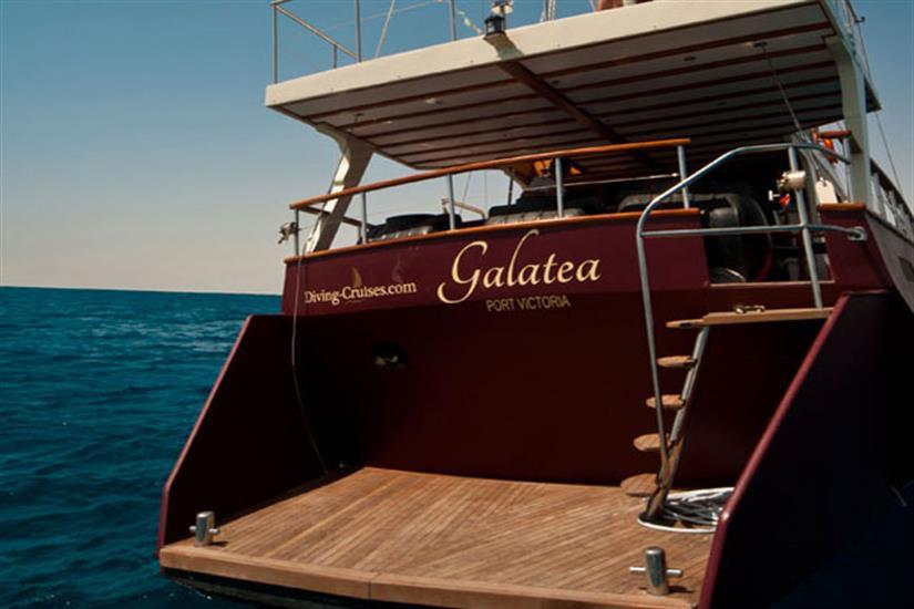 Rear dive platform - Galatea Liveaboard