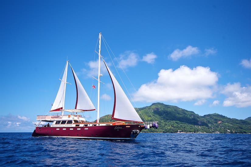 Amazing scenery whilst onboard Galatea Liveaboard
