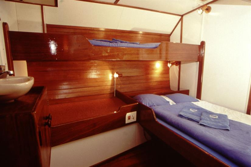 Double bed + single bunk cabin - Sea Shell Liveaboard