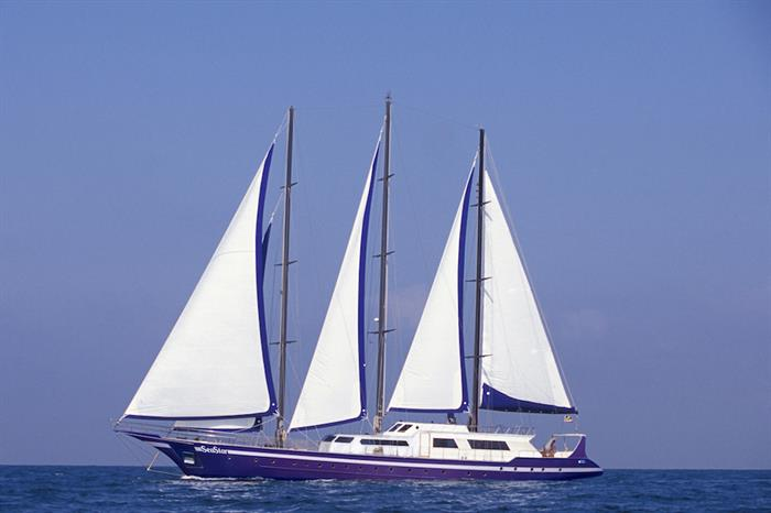 Sea Star Liveaboard at sail