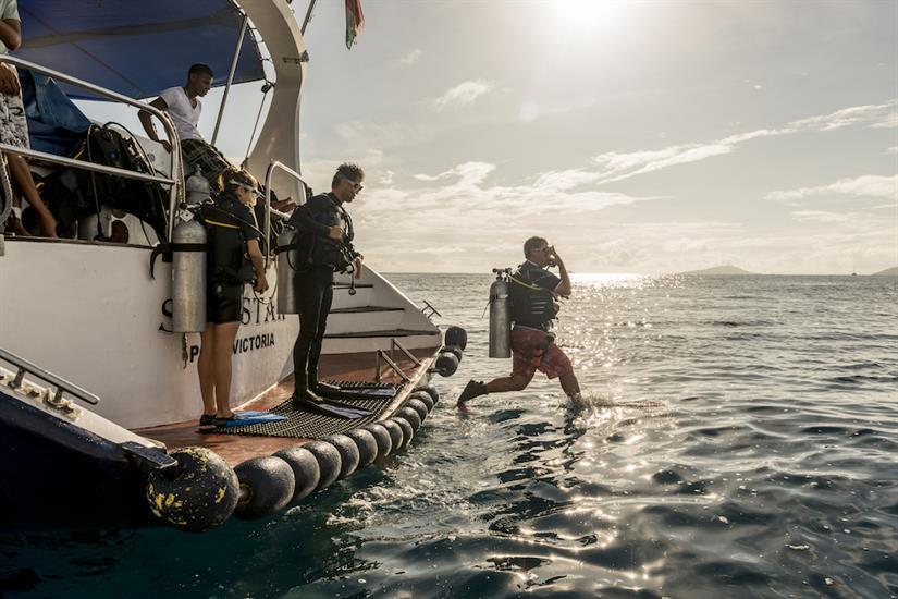 Dive platform onboard Sea Star Liveaboard