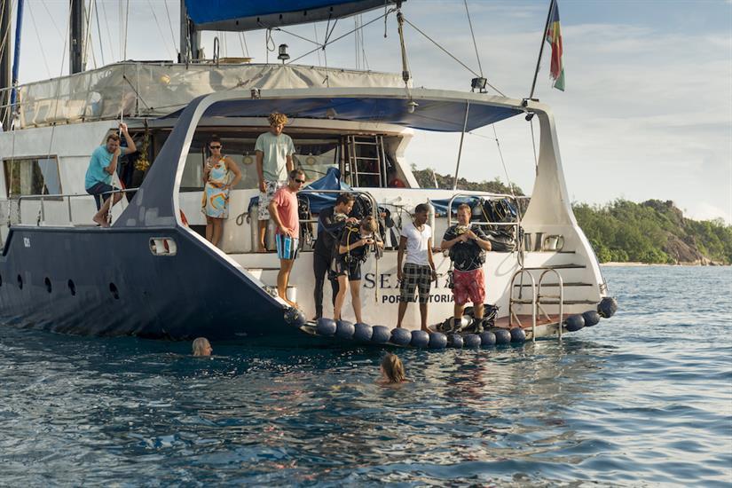 Dive platform and rear of Sea Star Liveaboard