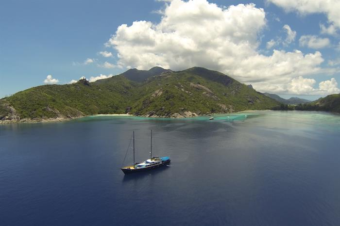 Aerial view of Sea Bird Liveaboard