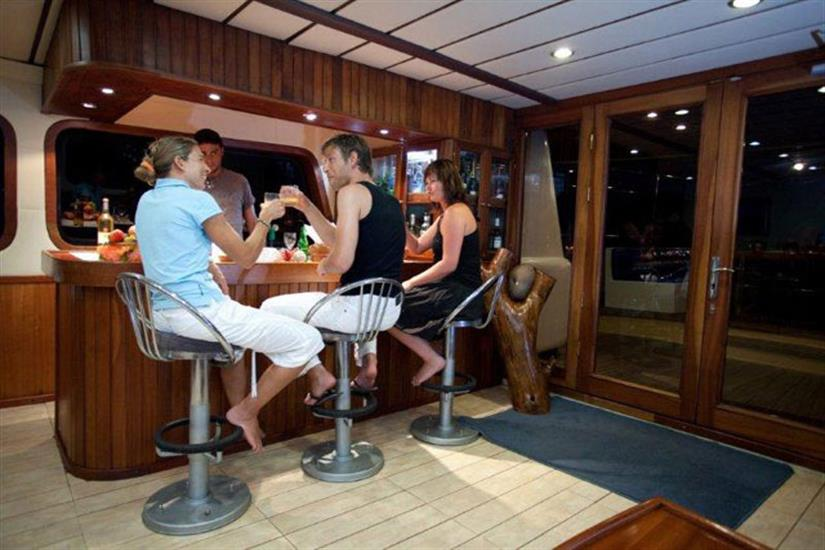 Bar area onboard Sea Bird Liveaboard