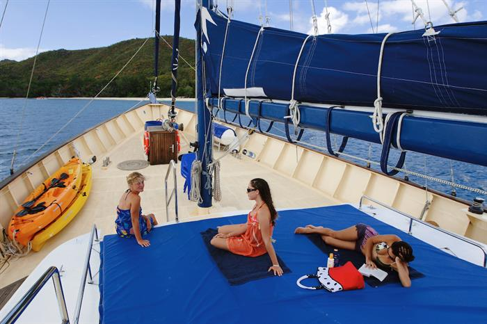 Plenty of space to relax on the sun deck area - Sea Bird Liveaboard
