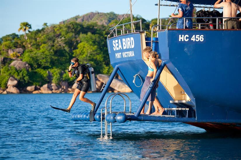 Dive platform onboard Sea Bird