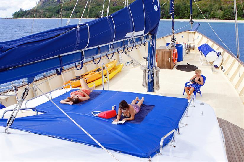 Relax on the sun deck - Sea Bird Liveaboard