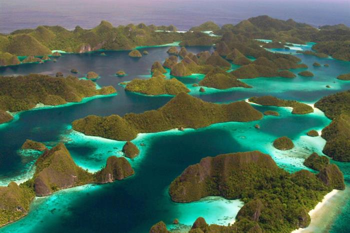 Breath taking scenery in Raja Ampat Indonesia