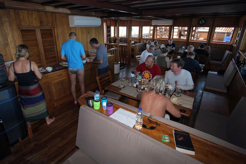 Lunch time aboard the Amira Liveaboard
