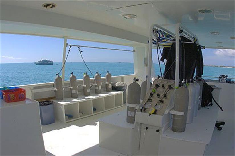 Wet/Dive area onboard Turks and Caicos Explorer II