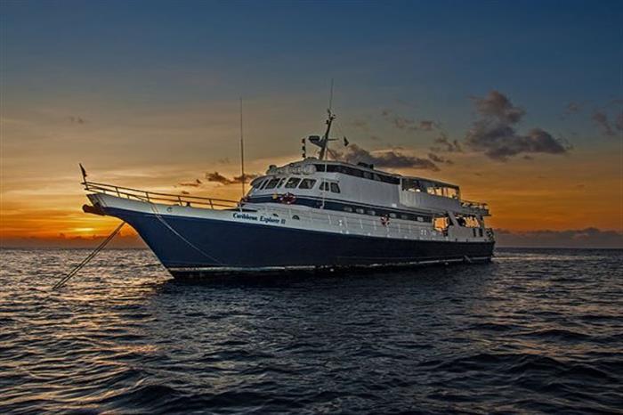 Sunset onboard Caribbean Explorer II