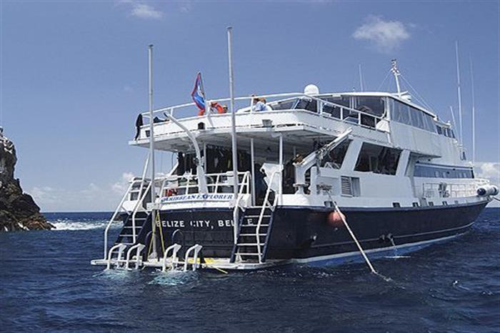 Dive platform on Caribbean Explorer II