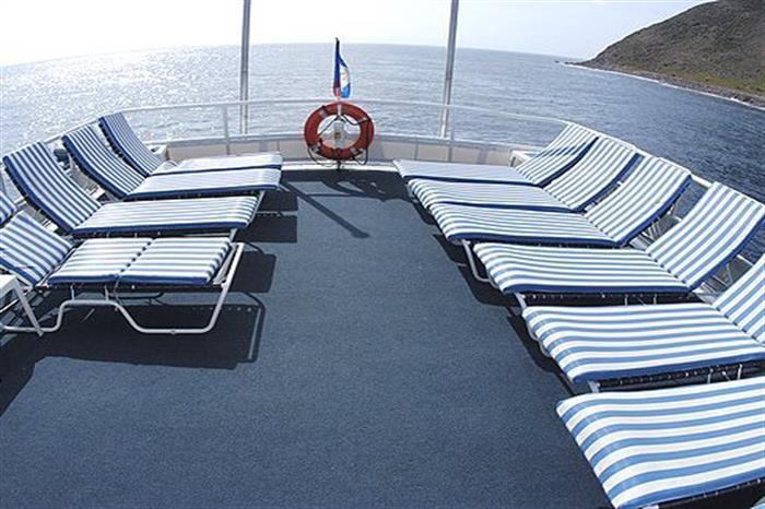 Sun deck area Caribbean Explorer II