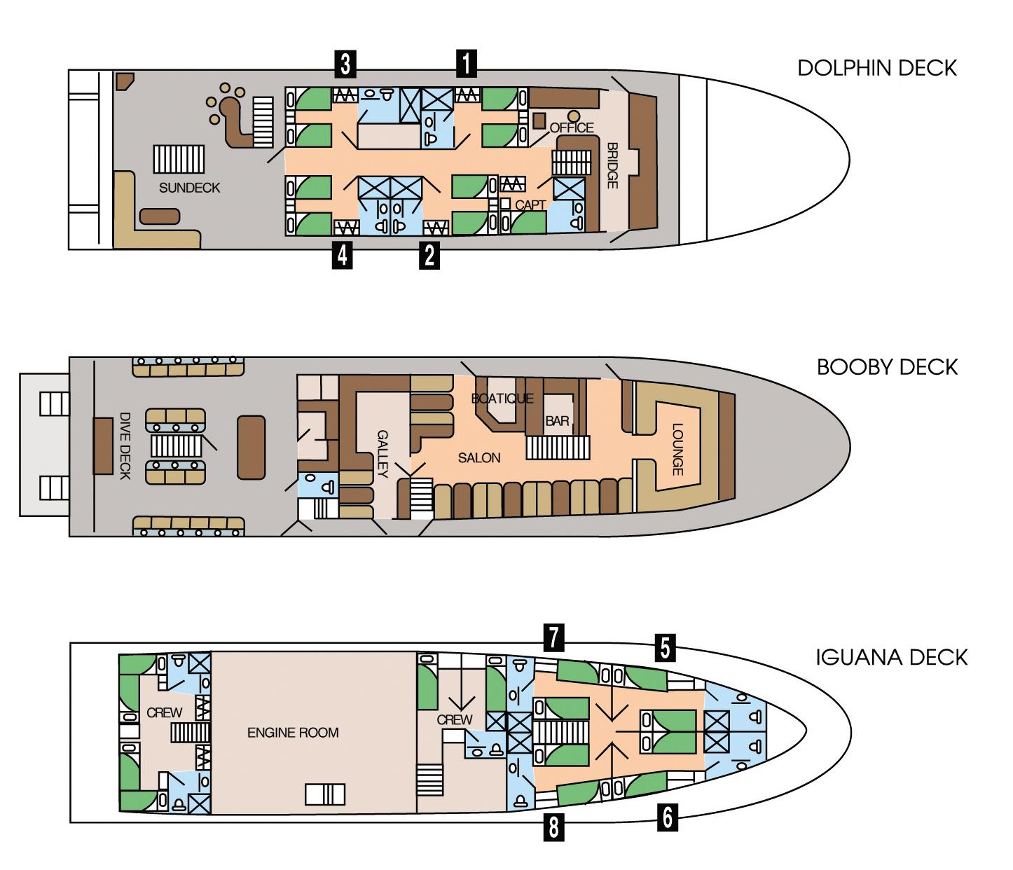 Galapagos Sky Deck Plan Grundriss