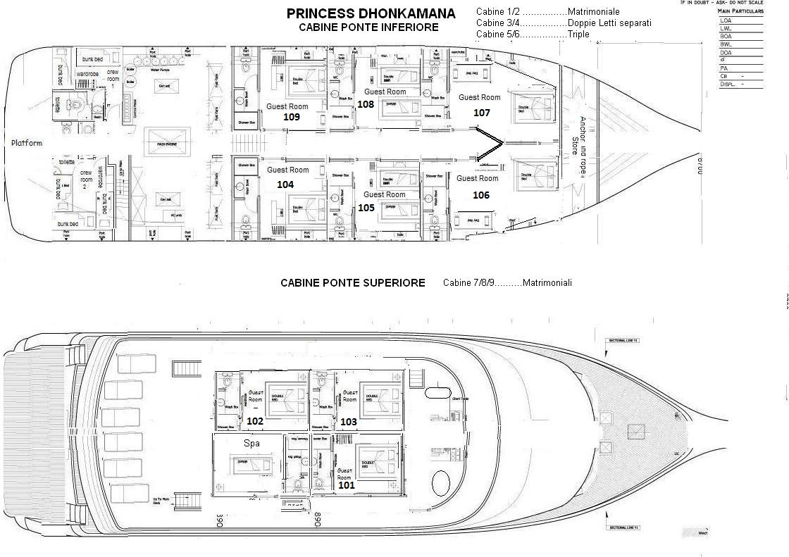 Princess Dhonkamana Deck Plan floorplan