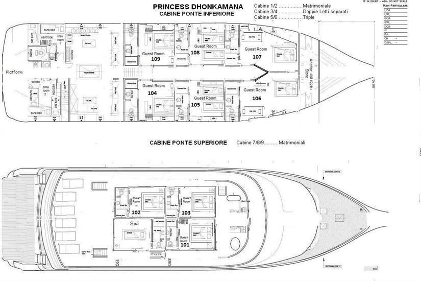 Princess Dhonkamana Deck Plan