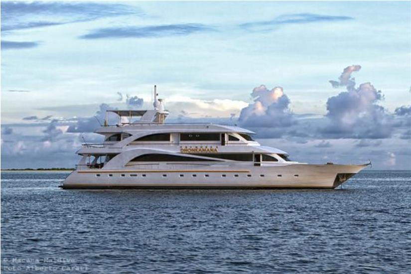 Princess Dhonkamana at sea in the Maldives